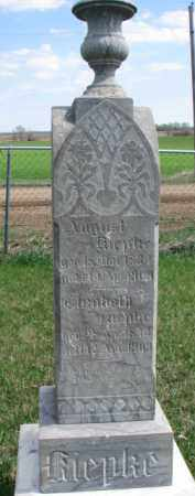 KIEPKE, AUGUST - Yankton County, South Dakota   AUGUST KIEPKE - South Dakota Gravestone Photos