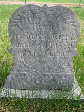 KIEPKE, KARL FRIEDRICH - Yankton County, South Dakota | KARL FRIEDRICH KIEPKE - South Dakota Gravestone Photos