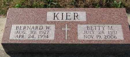 KIER, BETTY M. - Yankton County, South Dakota | BETTY M. KIER - South Dakota Gravestone Photos