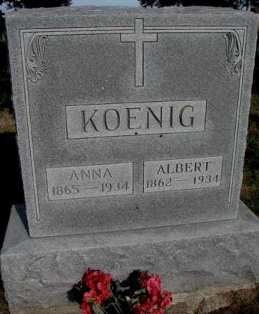 KOENIG, ANNA - Yankton County, South Dakota | ANNA KOENIG - South Dakota Gravestone Photos