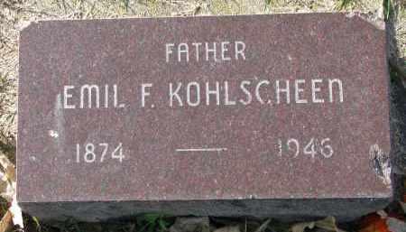 KOHLSCHEEN, EMIL F. - Yankton County, South Dakota | EMIL F. KOHLSCHEEN - South Dakota Gravestone Photos