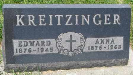 KREITZINGER, EDWARD - Yankton County, South Dakota | EDWARD KREITZINGER - South Dakota Gravestone Photos