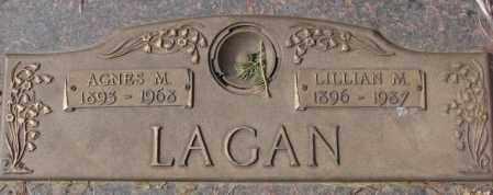 LAGAN, AGNES M. - Yankton County, South Dakota   AGNES M. LAGAN - South Dakota Gravestone Photos