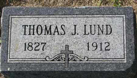 LUND, THOMAS J. - Yankton County, South Dakota | THOMAS J. LUND - South Dakota Gravestone Photos