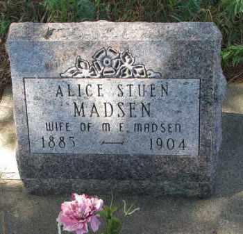 MADSEN, ALICE - Yankton County, South Dakota | ALICE MADSEN - South Dakota Gravestone Photos