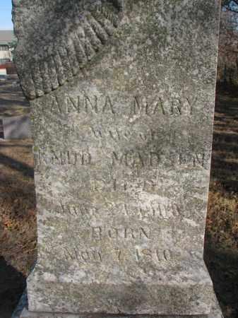 MADSEN, ANNA MARY (CLOSEUP) - Yankton County, South Dakota   ANNA MARY (CLOSEUP) MADSEN - South Dakota Gravestone Photos