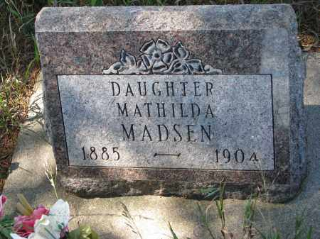 MADSEN, MATHILDA - Yankton County, South Dakota | MATHILDA MADSEN - South Dakota Gravestone Photos