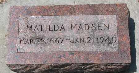 MADSEN, MATILDA - Yankton County, South Dakota | MATILDA MADSEN - South Dakota Gravestone Photos