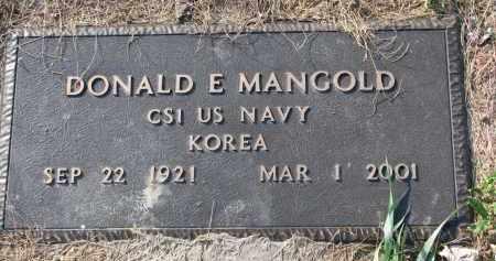MANGOLD, DONALD E. (MILITARY) - Yankton County, South Dakota | DONALD E. (MILITARY) MANGOLD - South Dakota Gravestone Photos