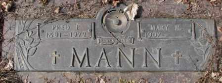 MANN, FRED P. - Yankton County, South Dakota   FRED P. MANN - South Dakota Gravestone Photos