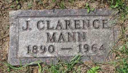MANN, J. CLARENCE - Yankton County, South Dakota   J. CLARENCE MANN - South Dakota Gravestone Photos