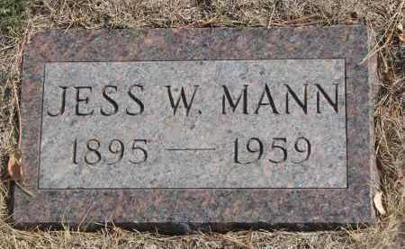MANN, JESS W. - Yankton County, South Dakota | JESS W. MANN - South Dakota Gravestone Photos