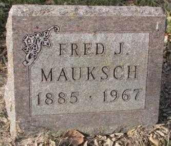 MAUKSCH, FRED J. - Yankton County, South Dakota   FRED J. MAUKSCH - South Dakota Gravestone Photos