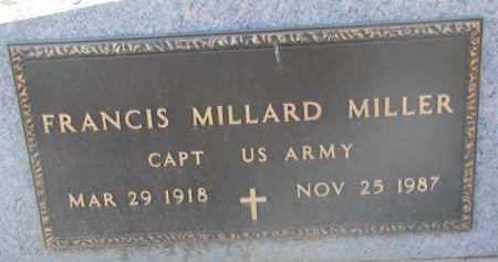 MILLER, FRANCIS MILLARD (MILITARY) - Yankton County, South Dakota | FRANCIS MILLARD (MILITARY) MILLER - South Dakota Gravestone Photos