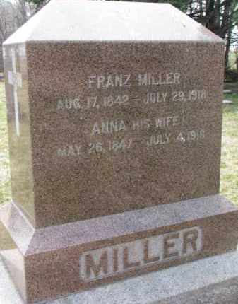 MILLER, ANNA - Yankton County, South Dakota | ANNA MILLER - South Dakota Gravestone Photos