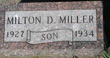 MILLER, MILTON D. - Yankton County, South Dakota | MILTON D. MILLER - South Dakota Gravestone Photos