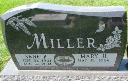 MILLER, VANE P. - Yankton County, South Dakota | VANE P. MILLER - South Dakota Gravestone Photos