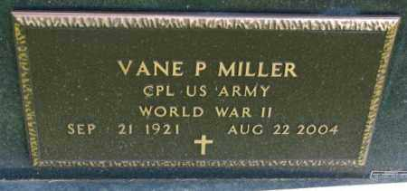 MILLER, VANE P. (WW II) - Yankton County, South Dakota | VANE P. (WW II) MILLER - South Dakota Gravestone Photos