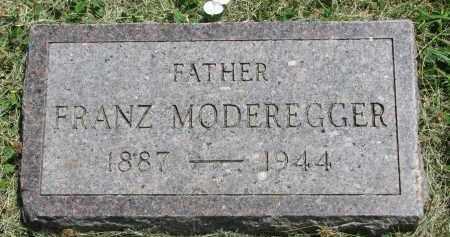 MODEREGGER, FRANZ - Yankton County, South Dakota   FRANZ MODEREGGER - South Dakota Gravestone Photos