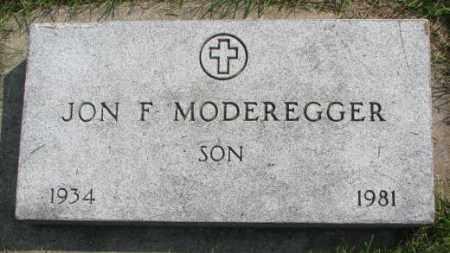 MODEREGGER, JON F. - Yankton County, South Dakota | JON F. MODEREGGER - South Dakota Gravestone Photos