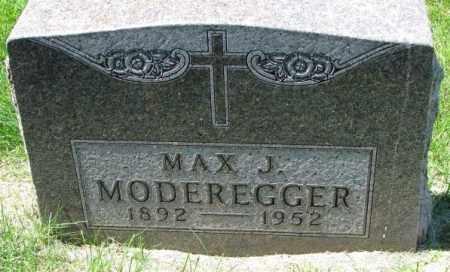MODEREGGER, MAX J. - Yankton County, South Dakota | MAX J. MODEREGGER - South Dakota Gravestone Photos