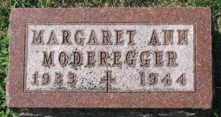 MODEREGGER, MARGARET ANN - Yankton County, South Dakota | MARGARET ANN MODEREGGER - South Dakota Gravestone Photos