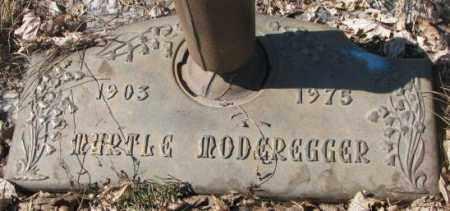 MODEREGGER, MYRTLE - Yankton County, South Dakota   MYRTLE MODEREGGER - South Dakota Gravestone Photos