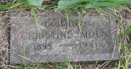 MOEN, CHRISTINE - Yankton County, South Dakota   CHRISTINE MOEN - South Dakota Gravestone Photos