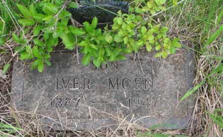 MOEN, IVER - Yankton County, South Dakota   IVER MOEN - South Dakota Gravestone Photos