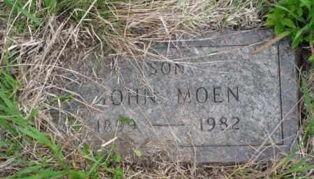 MOEN, JOHN - Yankton County, South Dakota   JOHN MOEN - South Dakota Gravestone Photos