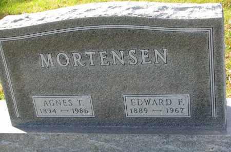 MORTENSEN, AGNES T. - Yankton County, South Dakota   AGNES T. MORTENSEN - South Dakota Gravestone Photos
