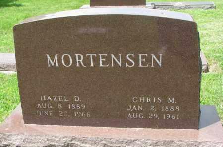 MORTENSEN, CHRIS M. - Yankton County, South Dakota   CHRIS M. MORTENSEN - South Dakota Gravestone Photos