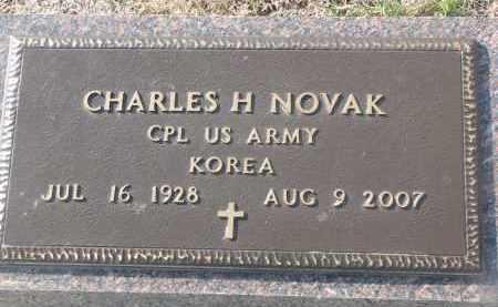 NOVAK, CHARLES H. (MILITARY) - Yankton County, South Dakota   CHARLES H. (MILITARY) NOVAK - South Dakota Gravestone Photos