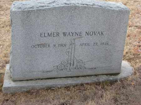 NOVAK, ELMER WAYNE - Yankton County, South Dakota   ELMER WAYNE NOVAK - South Dakota Gravestone Photos