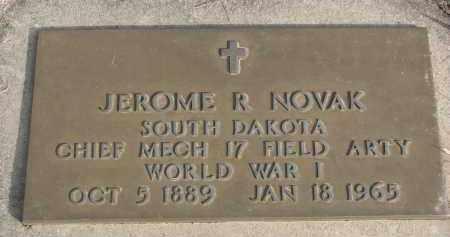 NOVAK, JEROME R. (WW I) - Yankton County, South Dakota | JEROME R. (WW I) NOVAK - South Dakota Gravestone Photos