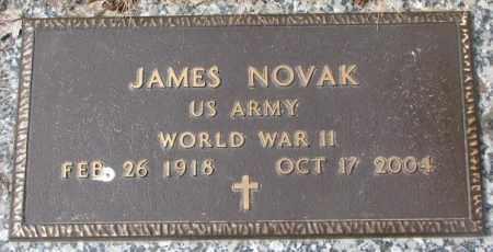 NOVAK, JAMES (WW II) - Yankton County, South Dakota   JAMES (WW II) NOVAK - South Dakota Gravestone Photos
