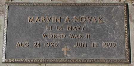 NOVAK, MARVIN A. (WW II) - Yankton County, South Dakota   MARVIN A. (WW II) NOVAK - South Dakota Gravestone Photos