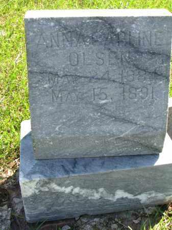 OLSEN, ANNA CARLINE - Yankton County, South Dakota | ANNA CARLINE OLSEN - South Dakota Gravestone Photos
