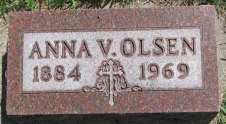 OLSEN, ANNA V. - Yankton County, South Dakota | ANNA V. OLSEN - South Dakota Gravestone Photos