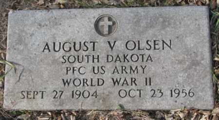 OLSEN, AUGUST V. (WW II) - Yankton County, South Dakota | AUGUST V. (WW II) OLSEN - South Dakota Gravestone Photos