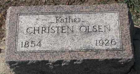 OLSEN, CHRISTEN - Yankton County, South Dakota | CHRISTEN OLSEN - South Dakota Gravestone Photos