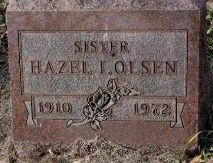 OLSEN, HAZEL I. - Yankton County, South Dakota | HAZEL I. OLSEN - South Dakota Gravestone Photos