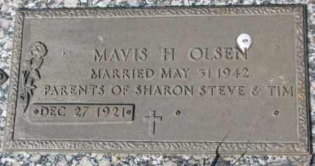 OLSEN, MAVIS H. - Yankton County, South Dakota   MAVIS H. OLSEN - South Dakota Gravestone Photos