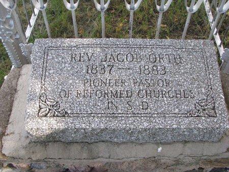 ORTH, JACOB (CLOSE UP) - Yankton County, South Dakota | JACOB (CLOSE UP) ORTH - South Dakota Gravestone Photos