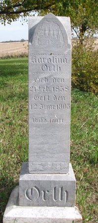ORTH, KAROLINA - Yankton County, South Dakota   KAROLINA ORTH - South Dakota Gravestone Photos