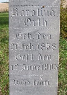 ORTH, KAROLINA (CLOSE UP) - Yankton County, South Dakota | KAROLINA (CLOSE UP) ORTH - South Dakota Gravestone Photos