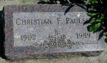 PAULSEN, CHRISTIAN F. - Yankton County, South Dakota | CHRISTIAN F. PAULSEN - South Dakota Gravestone Photos