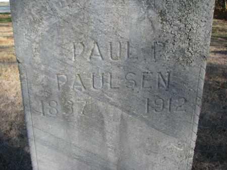 PAULSEN, PAUL P. (CLOSEUP) - Yankton County, South Dakota | PAUL P. (CLOSEUP) PAULSEN - South Dakota Gravestone Photos