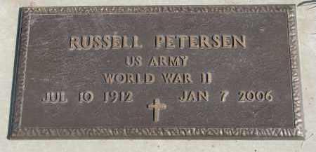 PETERSEN, RUSSELL (WW II) - Yankton County, South Dakota   RUSSELL (WW II) PETERSEN - South Dakota Gravestone Photos