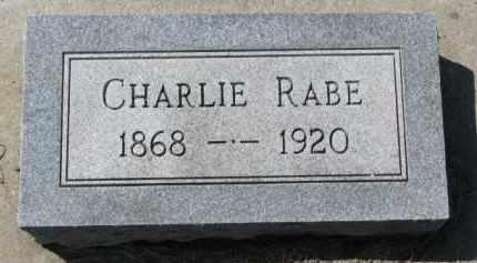 RABE, CHARLIE - Yankton County, South Dakota   CHARLIE RABE - South Dakota Gravestone Photos